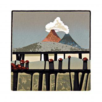 JOHANNES EIDT - Landschaft mit zwei Vulkanen